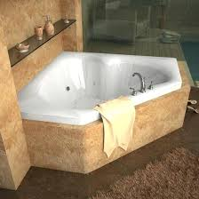 corner bath with jets corner whirlpool and air tub in white
