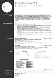 Skills On Resume Examples Quality Engineer Skills Resume