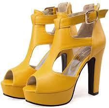 GUALA Women's High <b>Heel Sandals Thick</b> Heel Fish Mouth ...