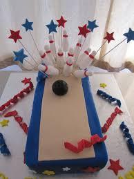 Ten Pin Bowling Cake Decorations ten pin bowling cake Birthdays Pinterest Cake Birthdays 1