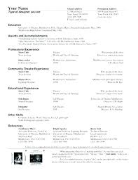 Theatre Resume Templates Inspiration Theater Resume Template Actors Word Performer Musical Theatre