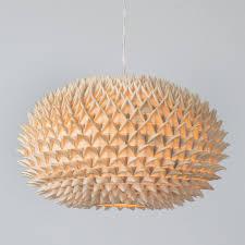 wood veneer lighting. Living Room Cool Natural Wood Veneer Lampshade Spike Design Oak Material Pendant Ceiling Light Modern Lighting