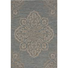 hampton bay medallion turquoise 5 ft x 7 ft indoor outdoor area rug