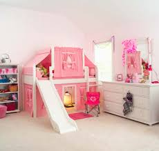 childrens beds with slides. 2-Story Playhouse LOW Loft Bed W/ Slide By Maxtrix Kids (pink/ Childrens Beds With Slides