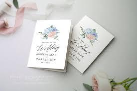 Fun Wedding Programs Folded Wedding Program Printable Wedding Program Unique