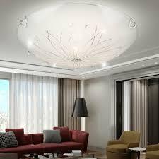 6 W Led Decken Lampe Glas Esszimmer Dekor Steine Bunt