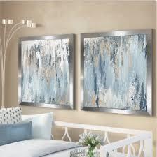 blue illusion square blue wall decor