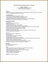 Sample Resume For Cna Certified Nursing Assistant Resume Luxury Cna Home Health