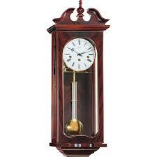 hermle waterloo mechanical regulator wall clock mahogany westminster chime