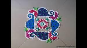 Small Picture Easy small and quick swastik rangoli design Innovative rangoli