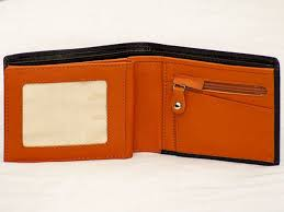 real leather mens leather wallet zipper coin purse card slots