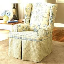 white wingback chair cover off