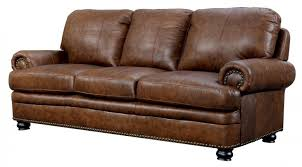 rheinhardt top grain leather sofa main image