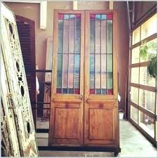 stained glass french door interior stained glass doors antique french white oak stained glass interior stained