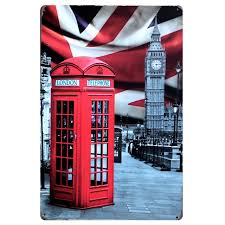 mike86 london telephone booth big ben metal signs wall decor house pub painting decoration on big ben metal wall art with mike86 london telephone booth big ben metal signs wall decor house