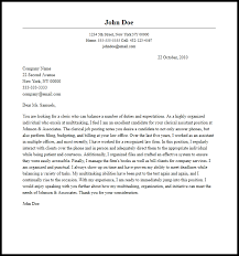 Cover Letter Exampel Professional Clerical Cover Letter Sample Writing Guide Cover