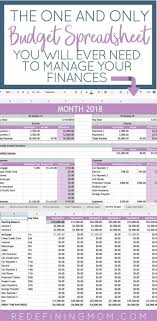 Monthly Budget Planning Easy Budget And Financial Planning Spreadsheet For Busy