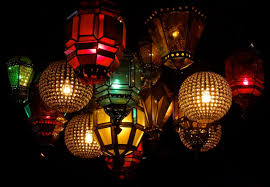 rare mexican craquelle glass and wrought iron light fixture image