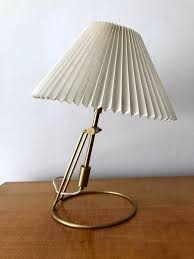 klint lighting. A Pair Of Brass Table Lamps With Original Folded Cellulose Shade By Danish  Make Le Klint Klint Lighting
