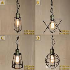 vintage small iron cages pendant lighting ceiling lamp american rural industry pendant lights restaurant kitchen lighting fixture decorative pendant