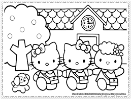 Small Picture Hello Kitty Coloring Pages For Girls Free Printable Kids
