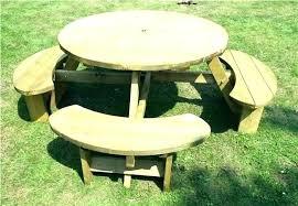 round picnic bench circular outdoor furniture ideas circular outdoor furniture for round garden tables amazing circular