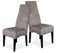 dining chairs gray high back fabric upholstered room in grey teal
