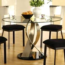 glass top round dining table trend reclaimed wood with metal black dinin