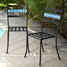 black powder coated iron metal patio