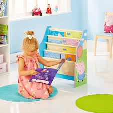 Peppa Pig Bedroom Furniture Peppa Pig Kids Bookcase By Hellohome Amazoncouk Kitchen Home