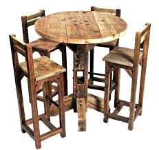 s small round pub table with chairs