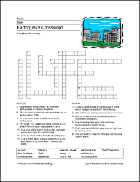 Download These Printable Earthquake Word Games. | Word games ...