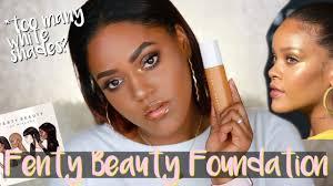 rihanna fenty beauty makeup foundation review dark skin
