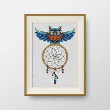 Buy A Dream Catcher BUY 10000 GET 100 FREE Owl dream catcher Cross Stitch Pattern pdf 35