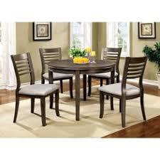 furniture of america dwight iii round dining set in um oak finish