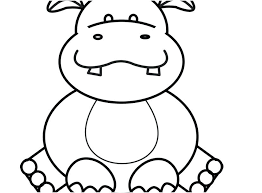 hippo animal coloring pages zoo animal coloring pages view coloring pages cute hippos copy cute zoo