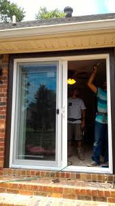 replacing french doors with sliding