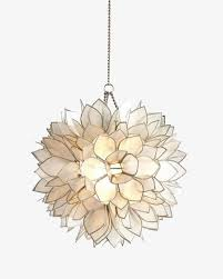 chandelier lotus chandelier lights off material fine png image and clipart