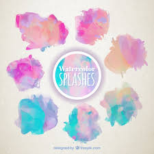 free watercolor brushes illustrator watercolor splashes set free vector pinteres