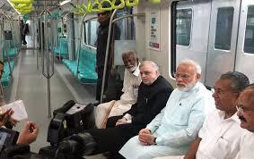 Image result for images of pm narendr modi ne kiya kochchi metro ka udghatan