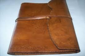 custom made leather portfolio