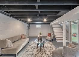 Basement ceiling ideas with also basement remodel design basement