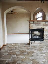 3 way fireplace with arches
