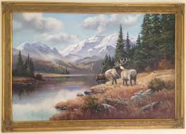 Wendy Reeves, Oil on canvas, Scottish Highland Landscape 35x24ins, Art  Ref:WDR909