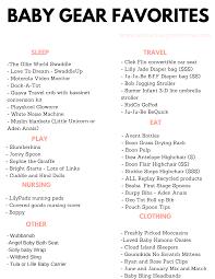 Baby Supplies Checklist Printable Baby Favorites Checklist Arinsolangeathome