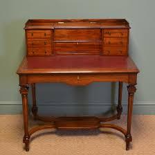 striking quality victorian mahogany bonheur du jour writing desk