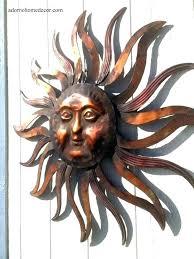 outdoor metal sun wall art large decor and moon hanging
