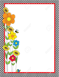 Small Picture A Black And White Checkered Border Featuring A Spring Garden