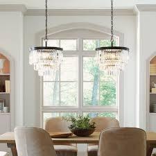 3 tier clear crystal chandelier mid century pendant lighting