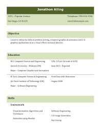 Best Resume Format For Freshers Computer Engineers